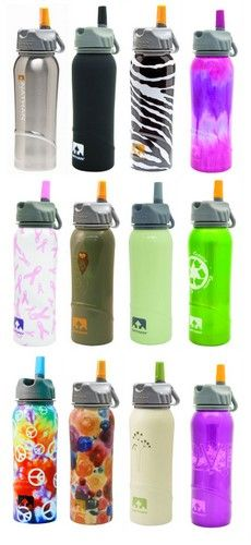 cute water bottles nathan water bottles stainless steel with a flip straw 30574