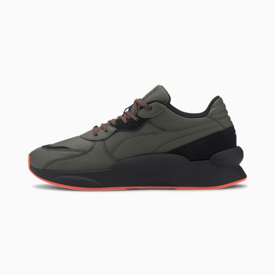 PUMA RS 9.8 Trail Running Shoes in Forest NightBlack size