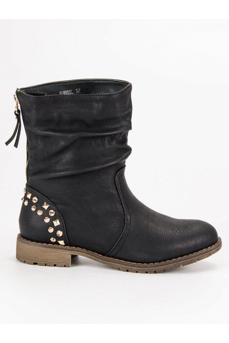 462e2d736274e Čierne topánky Rock Kayla | Čižmy Workery - NAJ.SK | Shoes, Rock a Boots