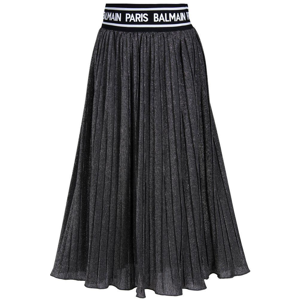 4180b6fbc476 Silver Pleated Maxi Skirt | Girls | Pleated maxi, Skirts, Silver skirt