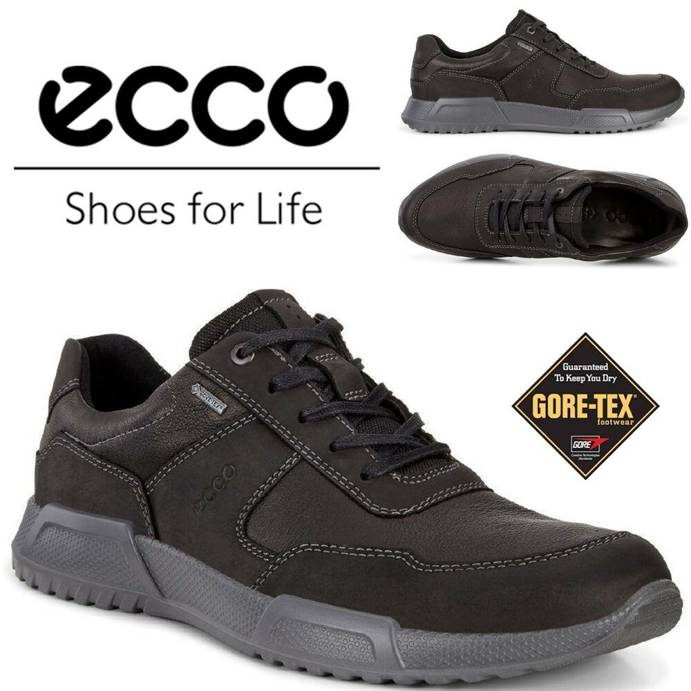 ECCO Luca GORE TEX® Waterproof Leather Sneaker Breathable