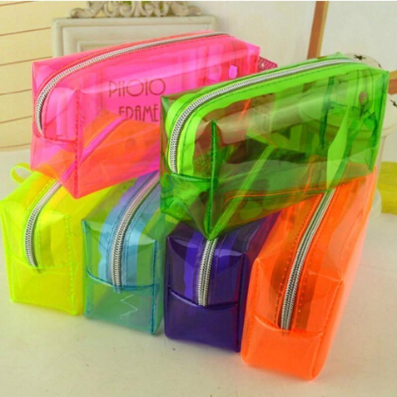 $2.03 - Pencil Pen Case Cosmetic Bag Clear Makeup Pouch ...