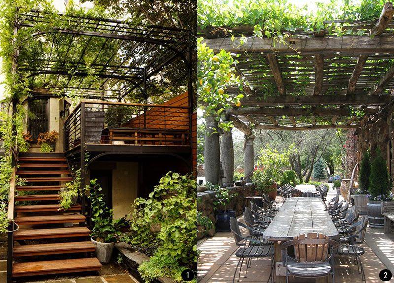 Exteriores con plantas patios, terrazas, jardines, balcones