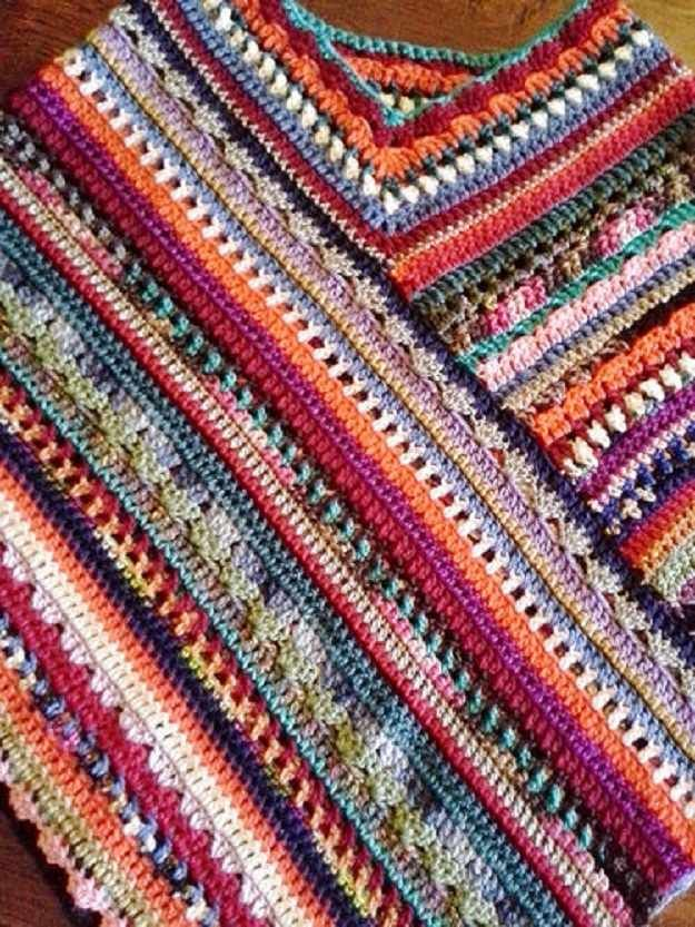 16 Easy Crochet Poncho Patterns For Women Crochet Poncho Easy