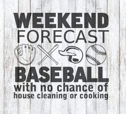 Photo of Weekend Forecast! Baseball! SVG File