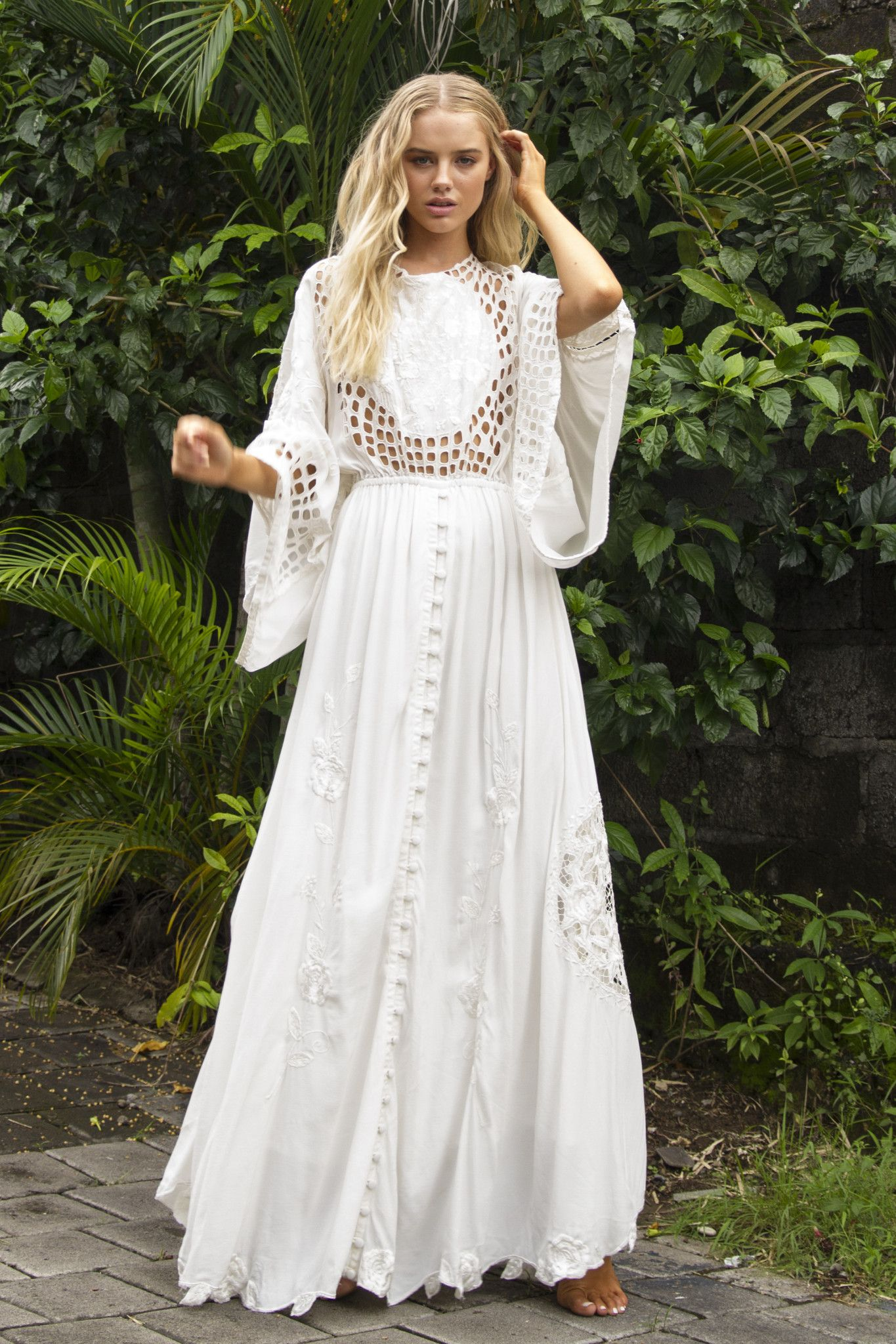 Fillyboo uis there love on marsu ivory gown boho fashion