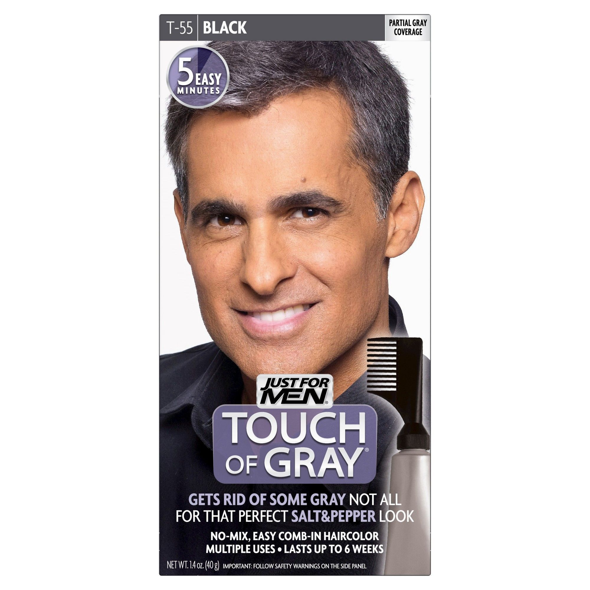 Touch Of Gray Black T 55 Temporary Hair Color Temporary Hair