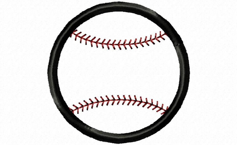 Baseball embroidery design download 4x4 size by MollieMonograms