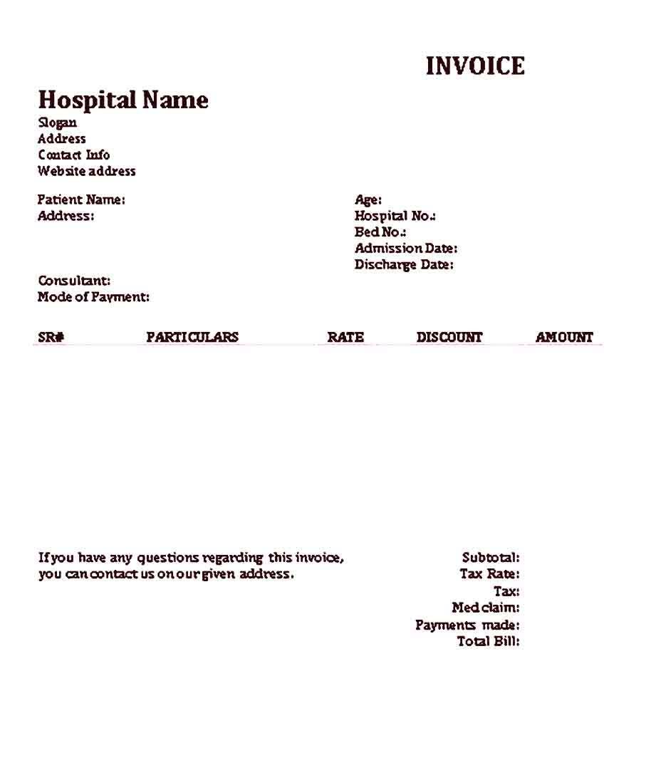 Medical Receipt Sample Template Healthcare Administration Receipt Template Medical Business