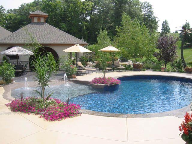 residential zero entry pool design | Zero entry pool for the ...