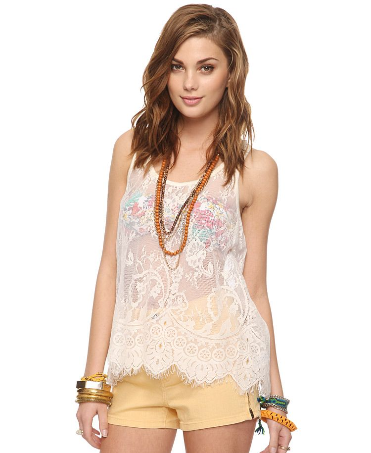 Lace Trapeze Tank | FOREVER21 - 2000037966