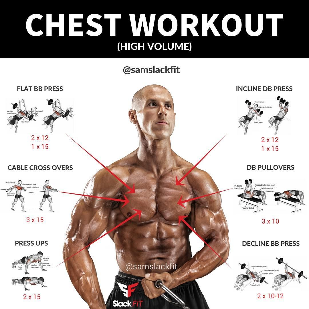 High Volume Chest Workout The Chest Is Probably One Of The