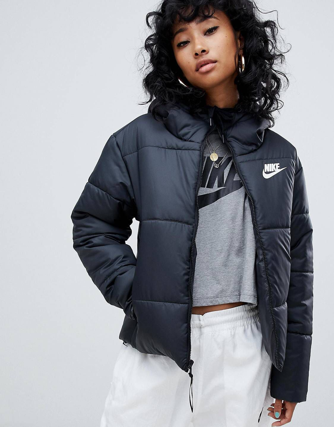 Nike Puffy Jacket Medium 155 Nike Jackets Women Rain Jackets Outfit Nike Coat Jackets [ 1436 x 1125 Pixel ]