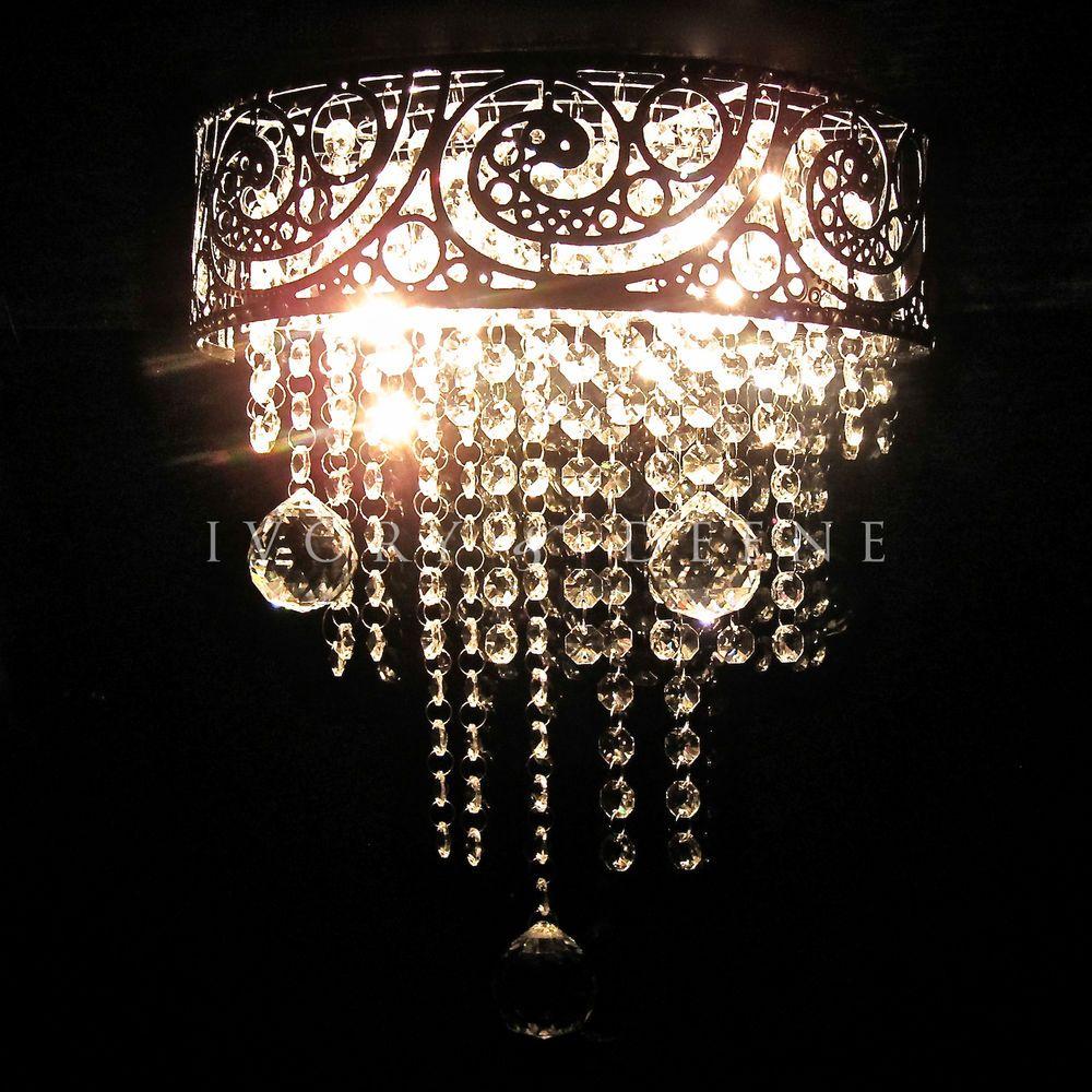 ornate lighting. AMAZING VINTAGE CRYSTAL Wall Chandelier Polished Chrome Ornate Light Silver NEW #IvoryDeene #LeGrandeWall Lighting O