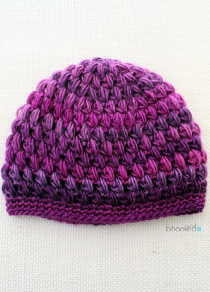 Crochet Puff Stitch Hat: Infant and Toddler Sizes | Infant, Crochet ...