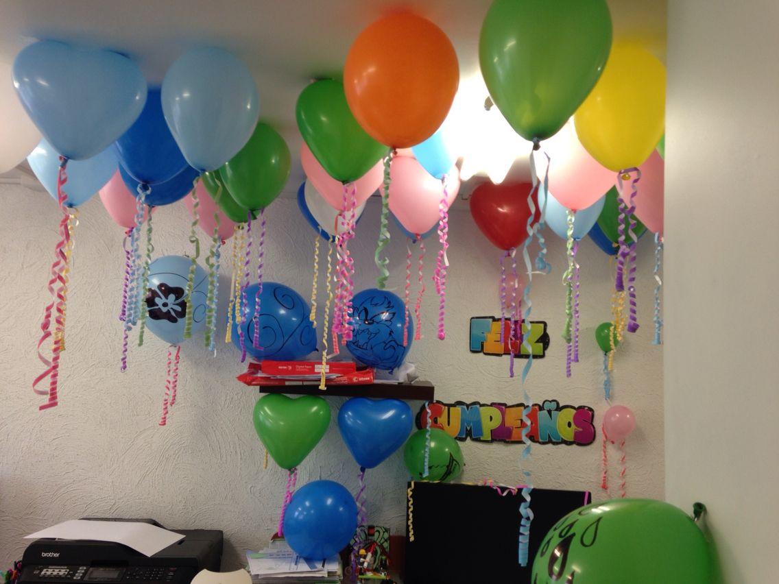 Cumple fanny decoraci n cumplea os en la oficina globos for Follando a mi jefa en la oficina