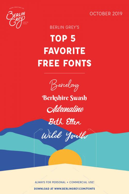 Pinterest Free Fonts October 201901 Free font