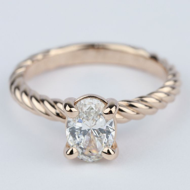 4c87e2265b5a4 Twisted Rope Oval Solitaire Diamond Engagement Ring   The wedding ...