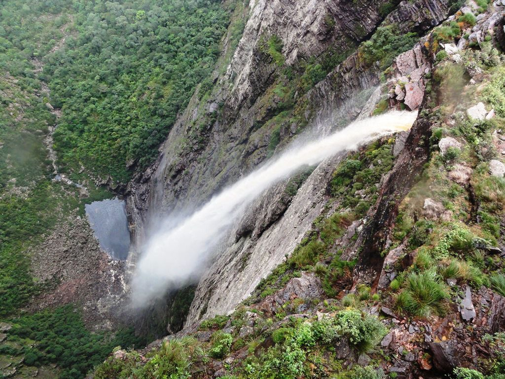 Smoke Falls Of Cachoeira Da Fumaca Bahia Brazil World Most