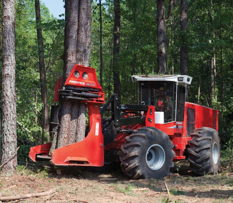 Prentice Wheeled Feller Buncher Logging equipment