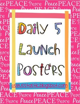 To go along with the Daily 5 book study on my blog I made this freebie for your classroom. I will be displaying these Peace themed posters in my cl...