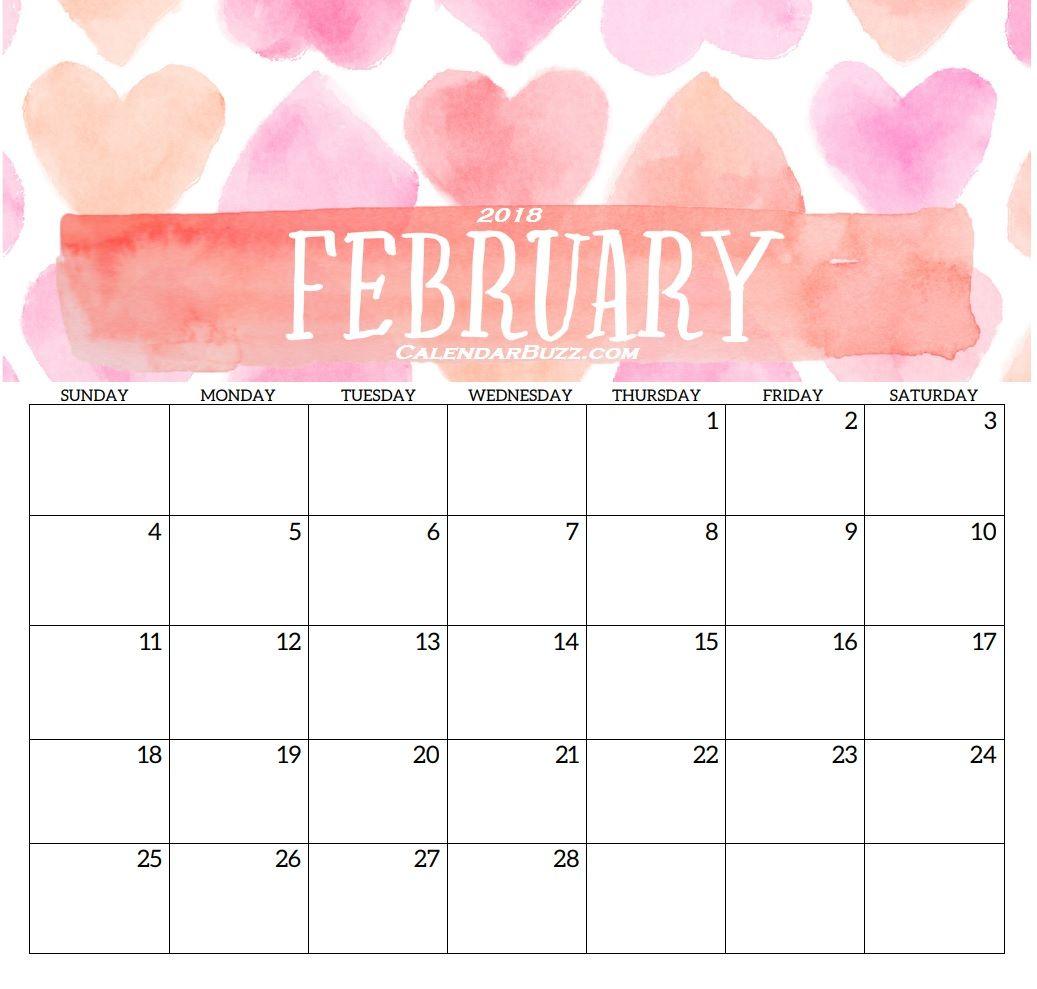February Printable Template