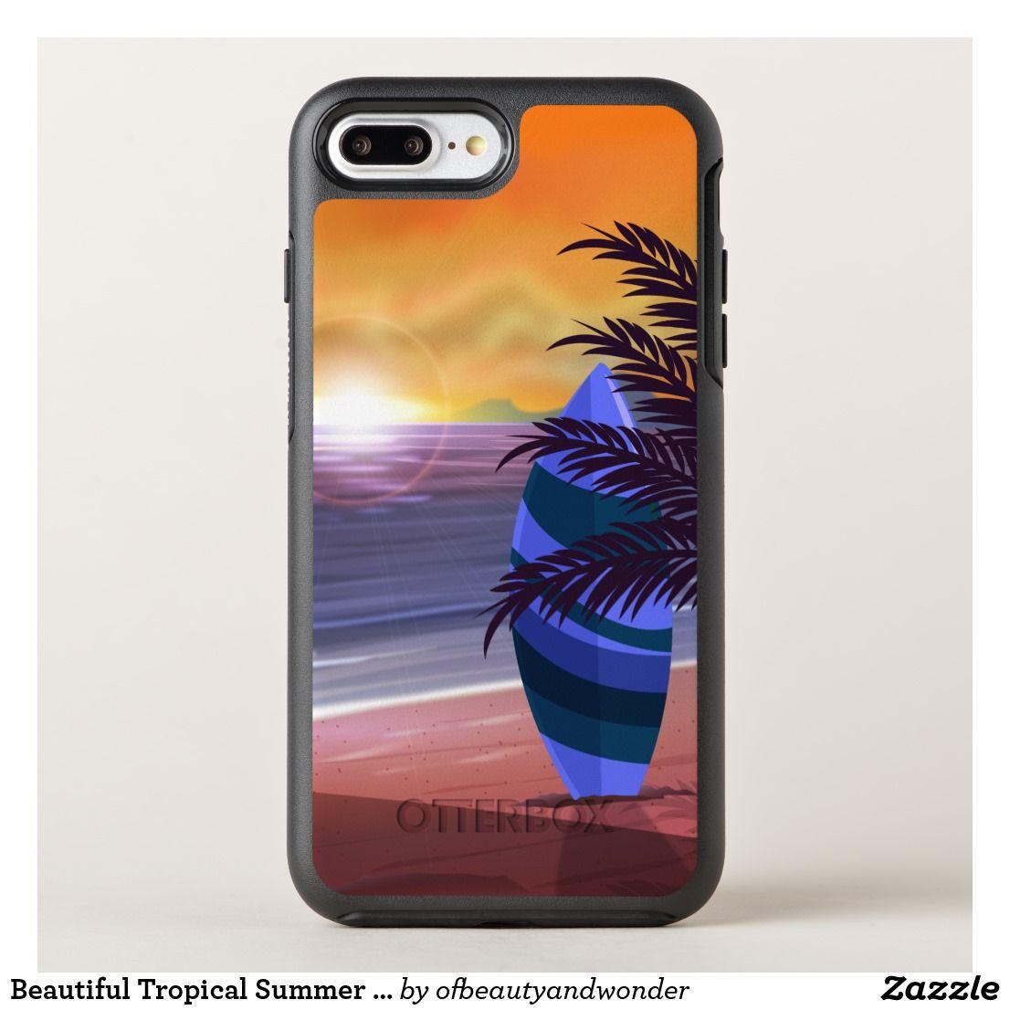 Beautiful tropical summer beach phone case
