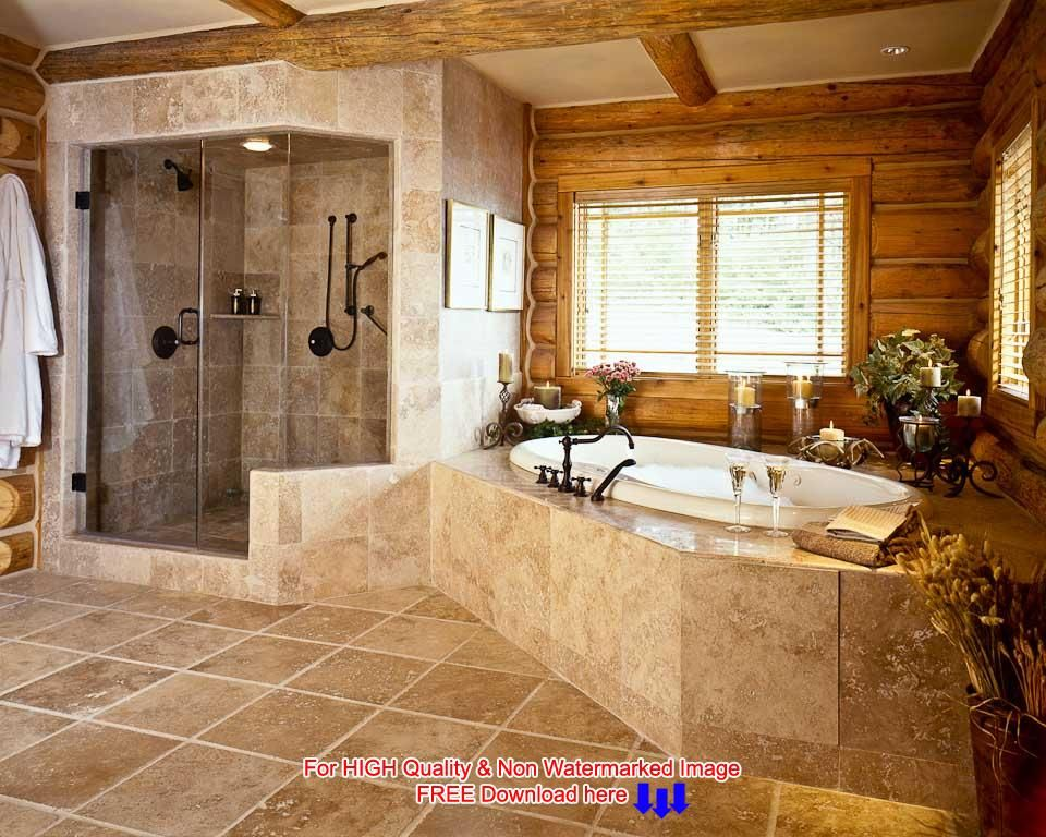 Pin By Anna Doczy On The Bathroom Western Bathroom Decor Log Home Bathrooms Western Bathrooms