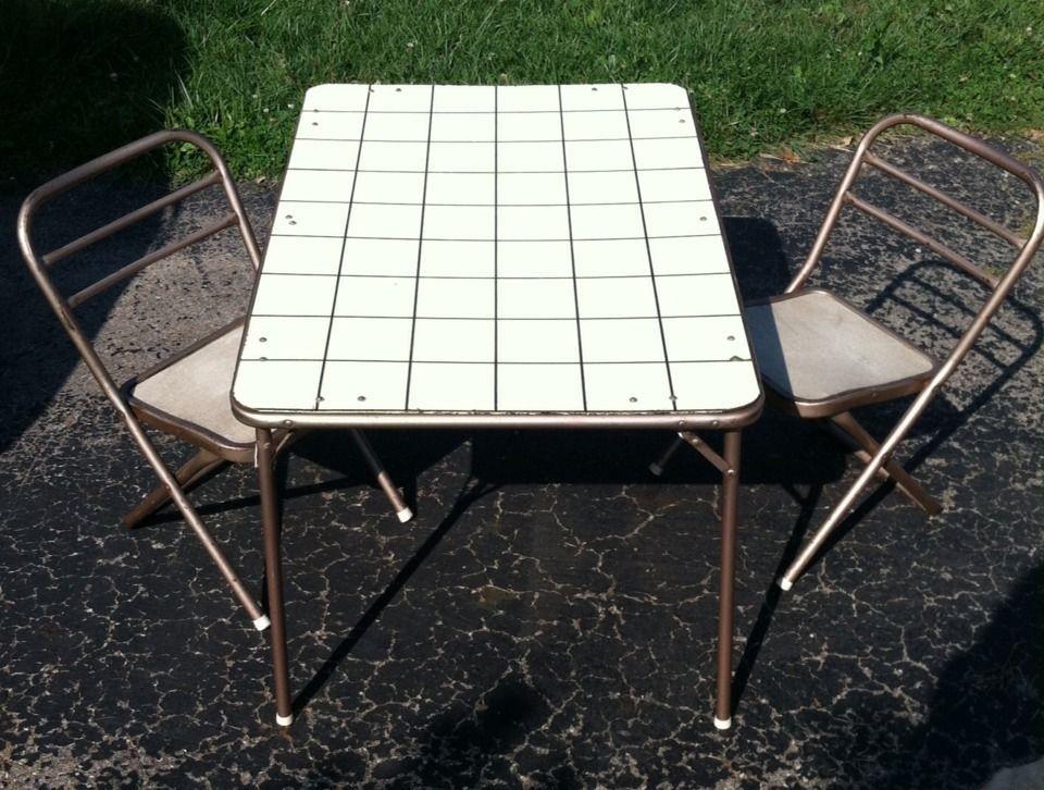 Vintage Hampden Child Size Folding Chair Table Set #Hampden
