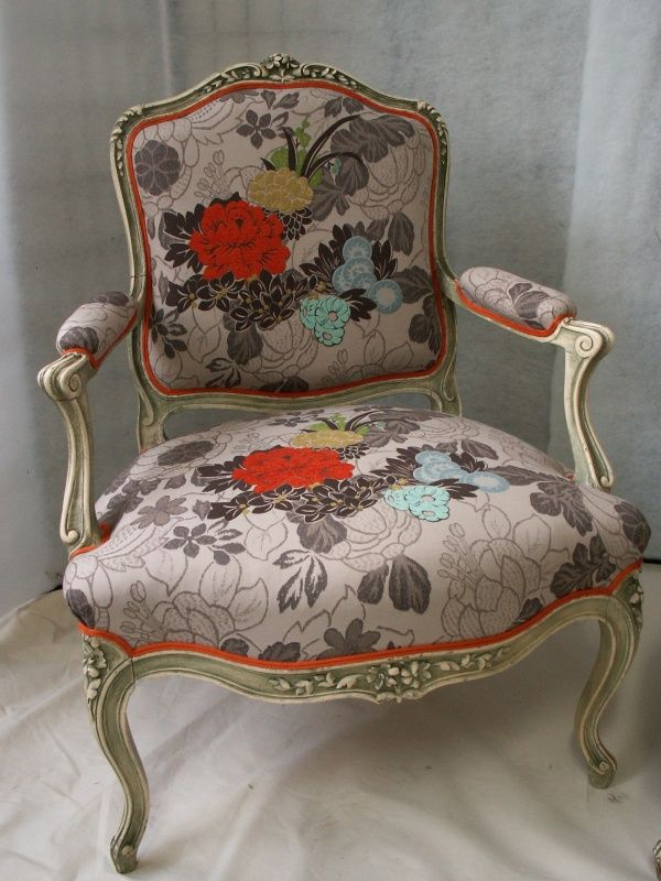tissus Kenzo pour rénovation fauteuil Voltaire | Meubles ...