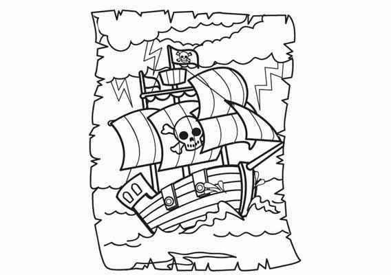 gratis kleurplaten piraten