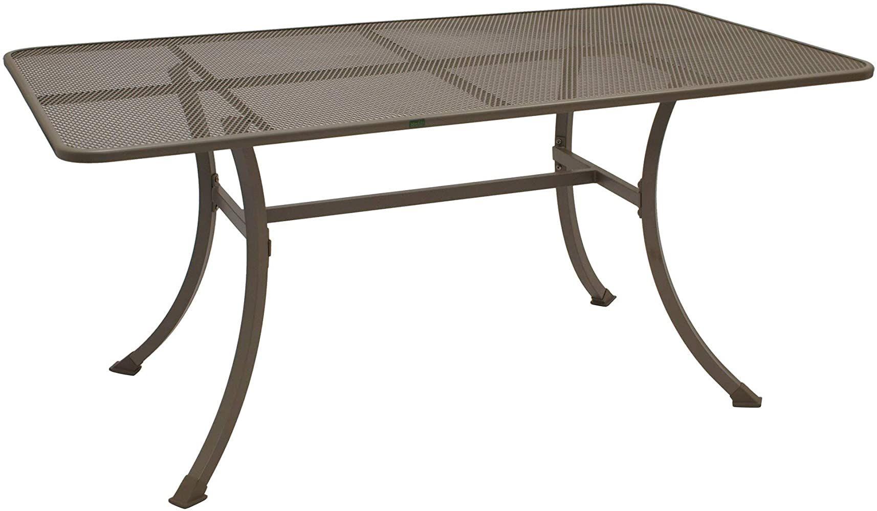 Gartenmoebel Einkauf Streckmetall Tisch Roma 90x160cm Mit Stabilem