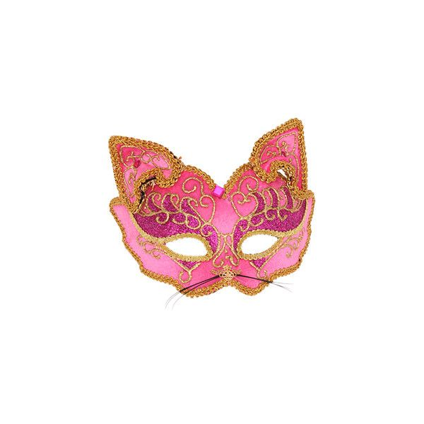 How To Decorate A Mask Cool Cat Mask In Pink And Gold  Make Or Decorate Masks & Face Casting Inspiration