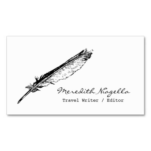 Writer Editor Authors Business Card Inspiration Pinterest