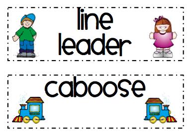 Line Leader Printables Line Leader Caboose Cards Pre