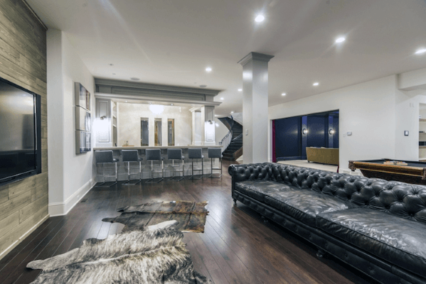 Top 70 Best Finished Basement Ideas Renovated Downstairs Designs Finishing Basement Basement Design Modern Basement