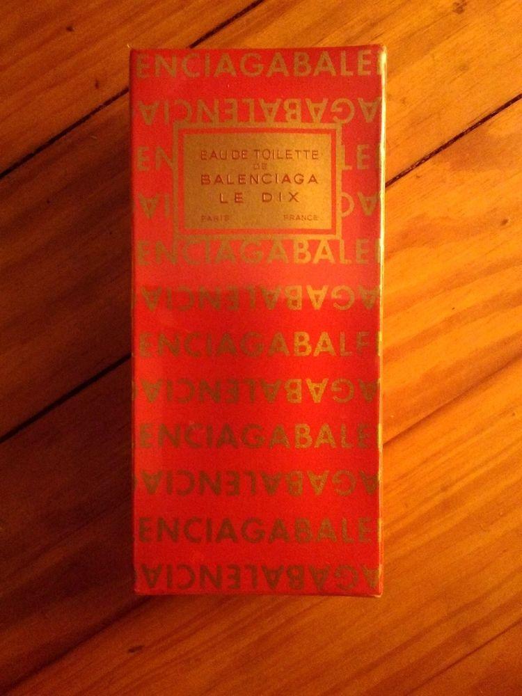 Vintage Balenciaga Le Dix EAU DE TOILETTE SPLASH In Box 2 Oz VERY RARE 100% REAL #Balenciaga
