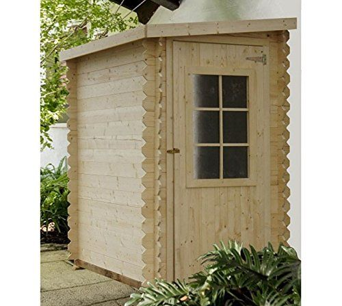 Chalet-Jardin 05-703391 Abri de Jardin en Bois Monopente Adossé Bois - plan de cabane de jardin