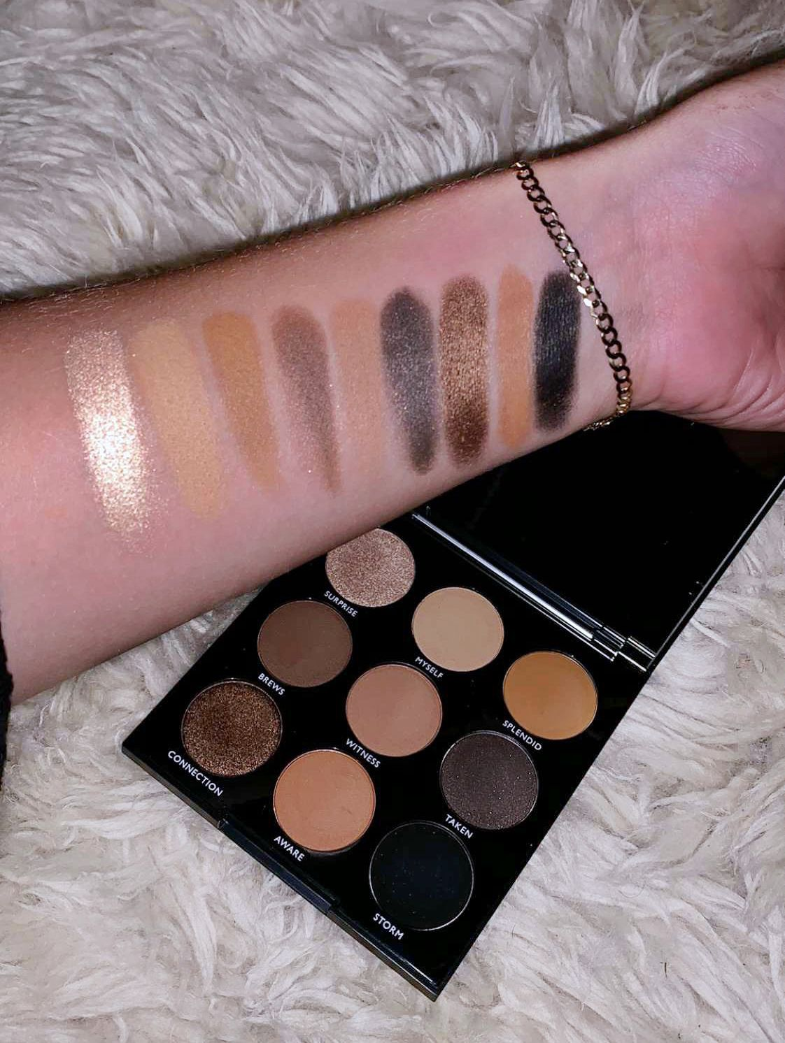 48ceefa8d08 Swatches from #morphe #morphe9A palette   Beat that face, girl in ...