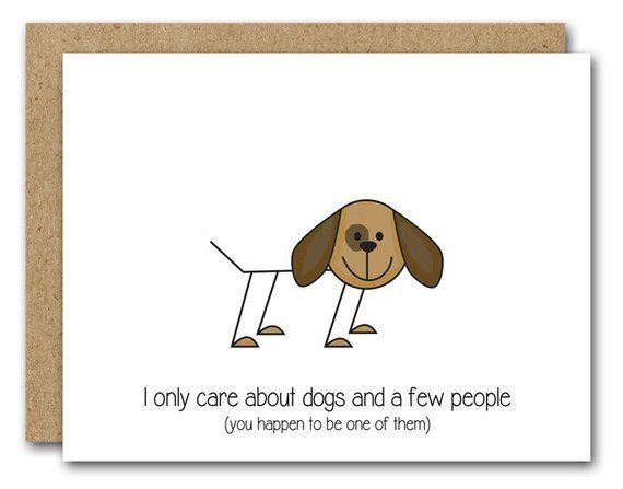 Printable Dog Card Instant Download Funny Dog Card Dog Greeting