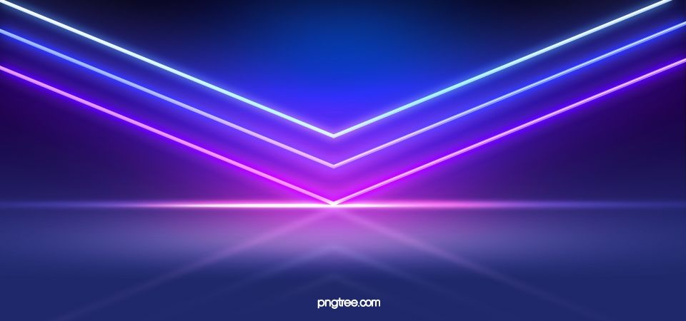3d Neon Light Abstract Background Di 2020 Spanduk
