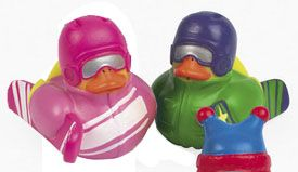 Retired Winter Snow Boarder Rubber Ducks