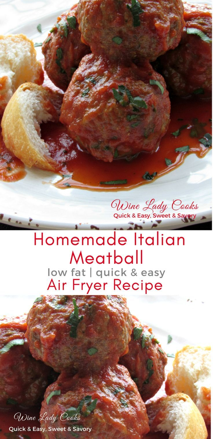 Photo of Homemade Italian Meatball Air Fryer Recipe