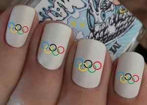Olympics! I wish I could get these but maybe I will just do each nail a color of one of the rings.