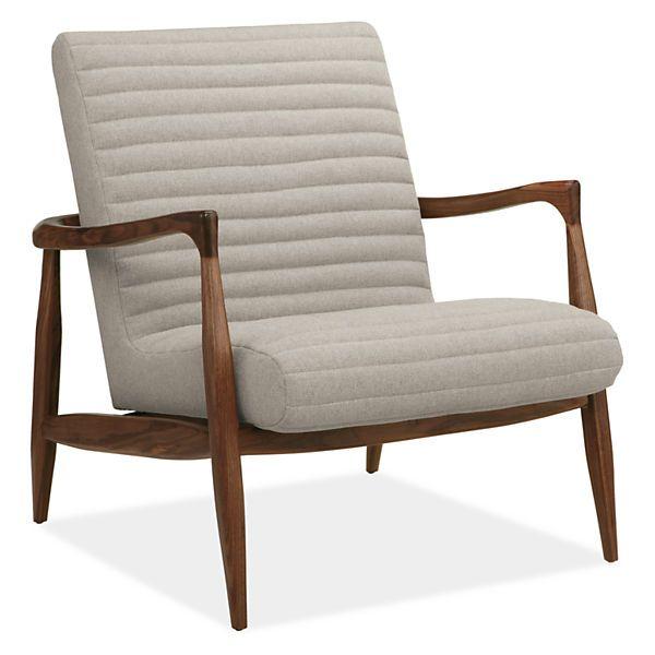 $1400 Callan Chair U0026 Ottoman In Trip Fabric   Modern Accent U0026 Lounge Chairs    Modern