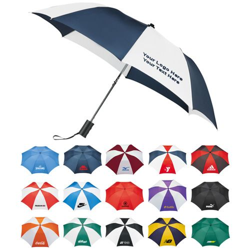 """Customized 42 Inch Arc Umbrellas: Available Colors: Navy/White, Green, Black, Black/White, Royal/White, Navy, Green/White, Black/Red, Purple/White, Red/White/Blue, Burgundy/White, Royal Blue, Navy/Yellow, Red, Orange/White, Red/White. Imprint Area: 6"""" H x 6"""" W. Product Size: 7"""" x 19"""" x 18"""" Product Weight: 37.4 lbs. Packaging: 48. #customumbrella #promotionalproduct #rainyday"""