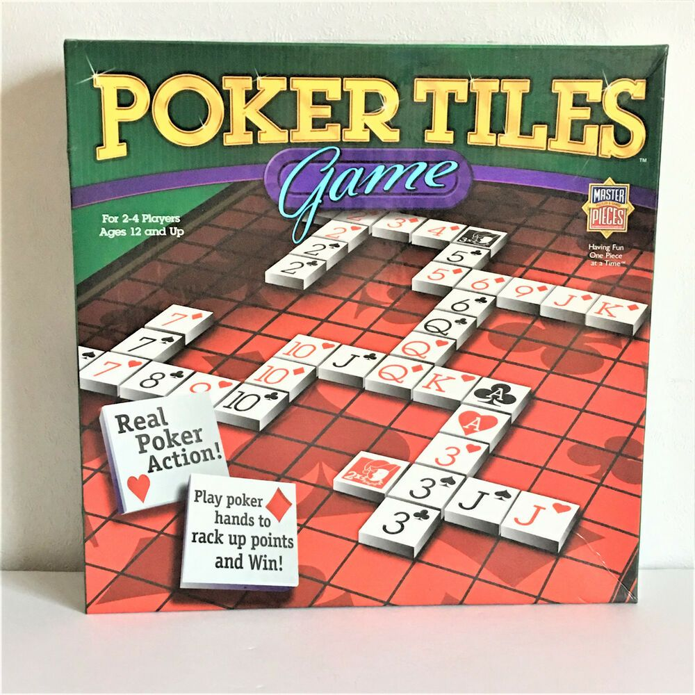 Poker Tiles Board Game By Master Pieces Puzzle Co 2005 Masterpieces Skip Bo Card Game Board Games Tiles Game