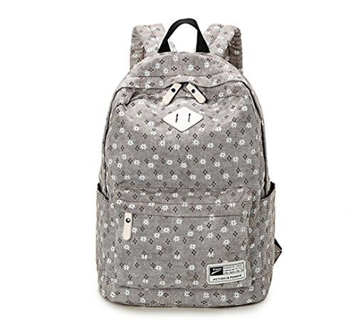 acd6bc2396 SAMGOO Simple Floral Printing College Backpack Bag grey   Click image to  review more details. Note It is Affiliate Link to Amazon.