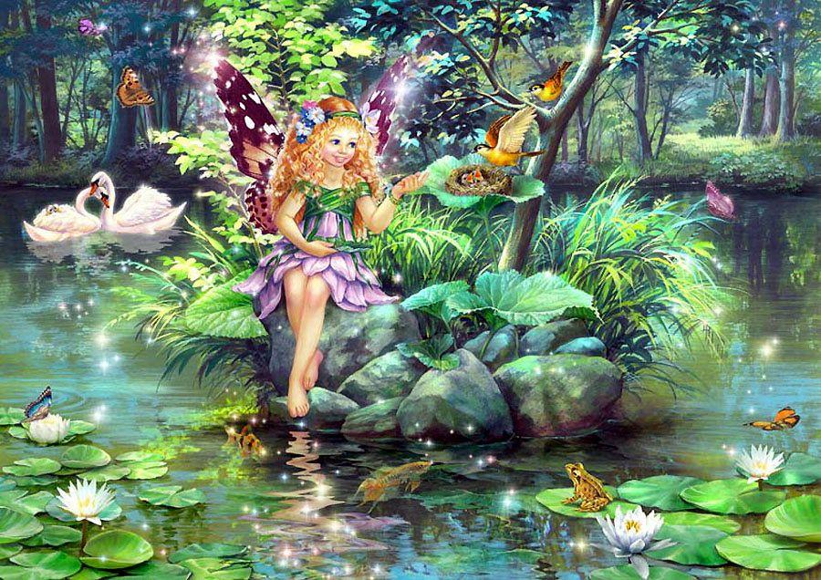 Надписями, картинки сказочные феи и эльфы