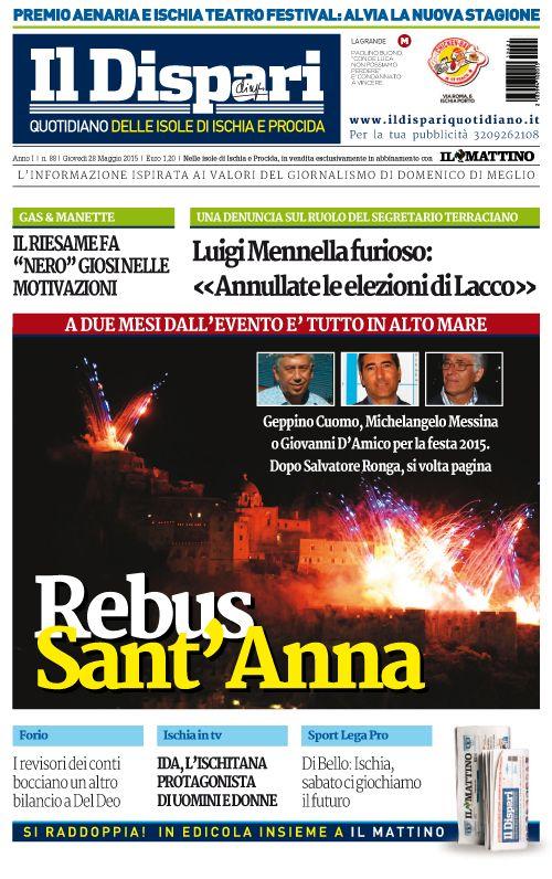La copertina del 28 maggio 2015 #ischia #ildispari